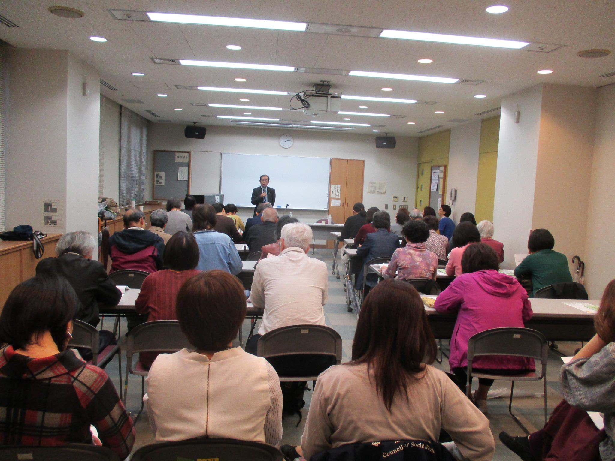 昭島市 社協「あいぼっく」で講演しました R1.10.25